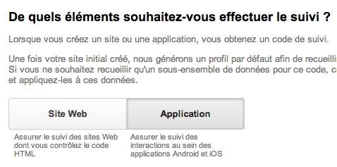 Google Mobile App Analytics enfin accessible pour tous : monitorez vos applications mobiles - Création d'une suivi pour une application mobile