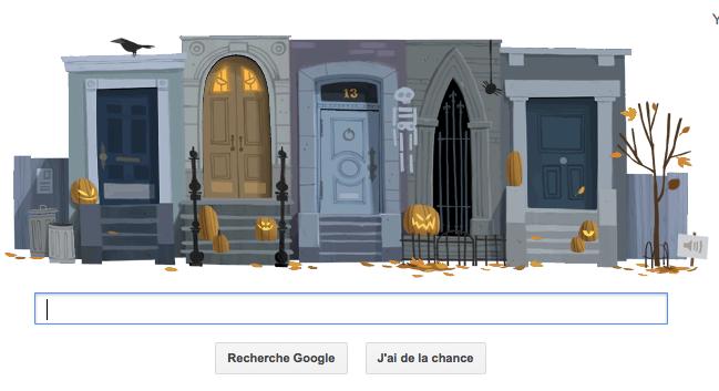 Halloween ! Google célèbre avec la fête avec un doodle interactif