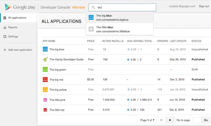 La console développeur de Google Play désormais accessible pour tous - Nouvelle console développeur sur Google Play