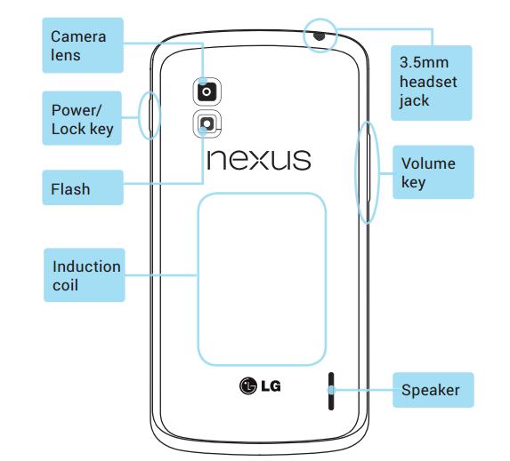 Le manuel du smartphone Nexus LG confirme un modèle 8 et 16 Go, et une recharge sans fil