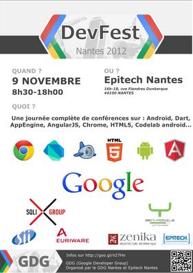 Les évènements Web à ne pas manquer en Octobre, Novembre, Décembre prochain - DevFest Nantes 2012