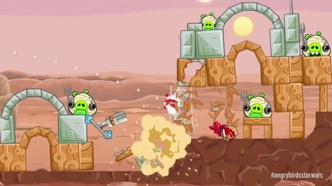 Premier gameplay pour Angry Birds Star Wars