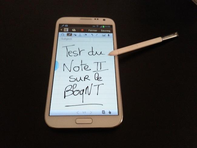 Tour d'horizon du Samsung Galaxy Note II : Une puissance et autonomie de choc - S Note