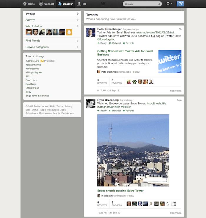 Twitter va mettre davantage l'accent sur les médias dans l'onglet Découvrir