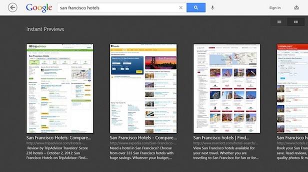 Voici à quoi va ressembler l'App Google sur Windows 8 - Instantanée en mode aperçu