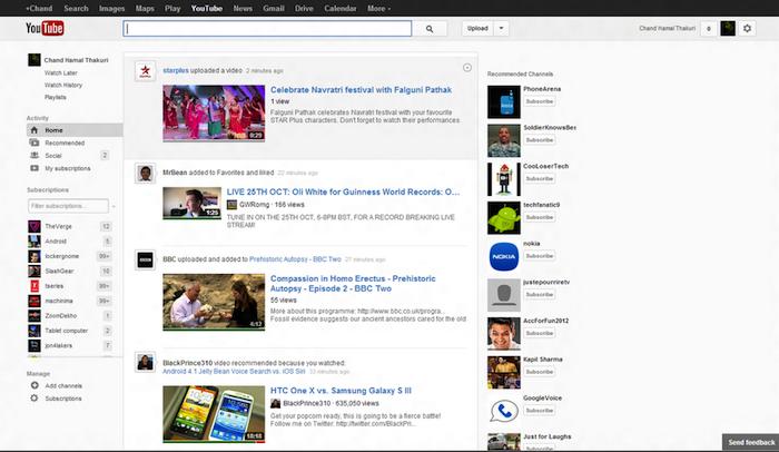 YouTube remanie étrangement son interface pour ressembler étroitement à Google+