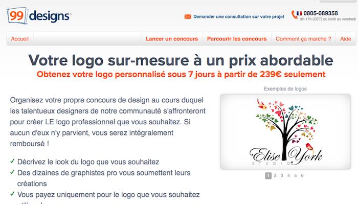 99designs lance son réseau de design crowdsourcing en France - Création Logo