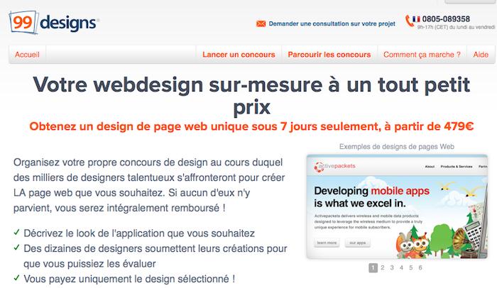 99designs lance son réseau de design crowdsourcing en France - Création Webdesign