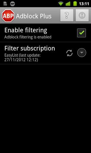 Adblock Plus se lance sur Android pour bloquer les publicités, et ce sans avoir rooté le dispositif - Configuration d'Adblock Plus sur Android