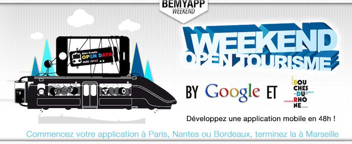 BeMyApp organise un weekend Open-tourisme avec Google