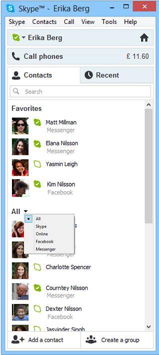 C'est officiel, Microsoft va vraiment abandonner Windows Live Messenger en faveur de Skype - Liste des contacts de Windows Live Messenger au sein de Skype
