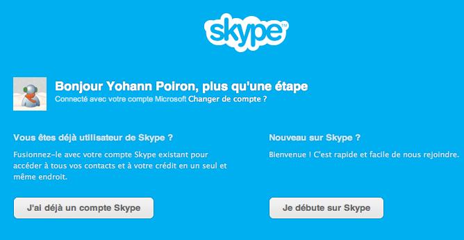 Comment fusionner vos comptes Skype et Windows Live Messenger en un compte Microsoft - Accéder à un autre compte Skype