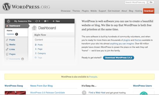 Comparaison des meilleurs systèmes de gestion de contenu (CMS) - WordPress