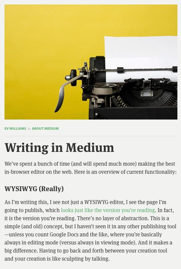 Est-ce que Medium serait la prochaine étape des blogs ?