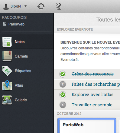 Evernote 5 sur Mac, un nouveau regard, pour une centaine de nouvelles fonctionnalités