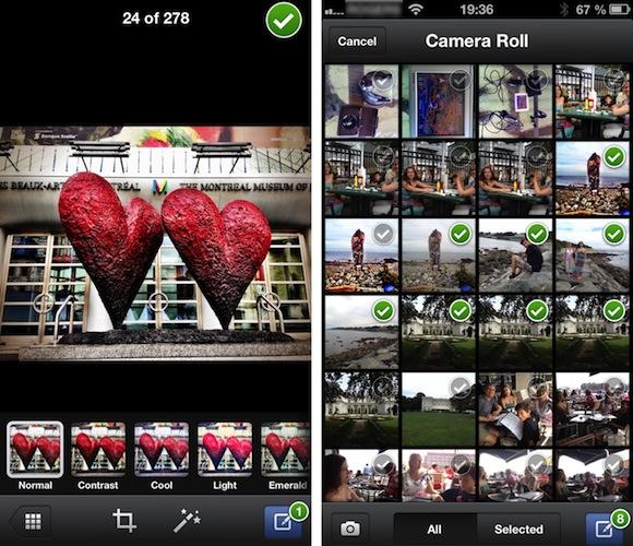Facebook, mais pas Twitter, ajoute les filtres photos à iOS