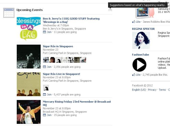 Facebook teste les évènements à venir dans son flux d'actualité