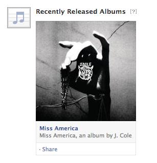 Facebook teste les albums récemment sortis dans son flux d'actualité