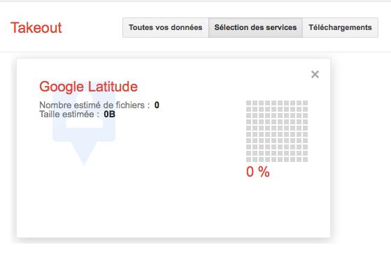 Google ajoute Reader et Latitude à Google Takeout - Export des données de Latitude