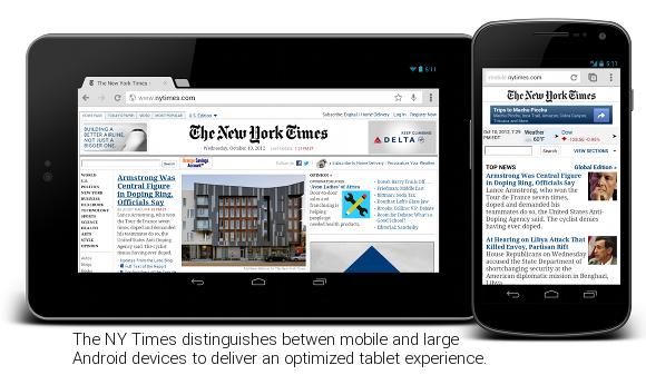 Google parle de l'optimisation pour les tablettes