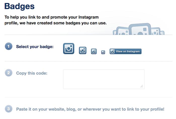 Instagram lance ses badges pour la promotion de ses nouveaux profils sur le Web - Liste des badges Instagram
