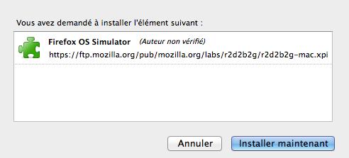 Mozilla vous permet désormais de tester Firefox OS dans votre navigateur de bureau - Téléchargement de l'add-on Firefox OS Simulator