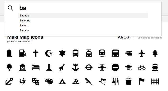 NounProject, plus de 100 pictogrammes libres pour le Web et les terminaux mobiles - Champ de recherche évolué à la 'Google Recherche'