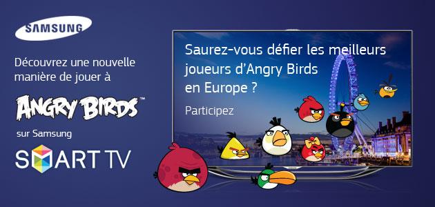 Participe au grand tournois Angry Birds organisé par Samsung et va représenter la France à Londres !