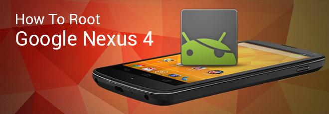 Quelques jours seulement après son annonce, le Nexus 4 de Google 4 est déjà rooté