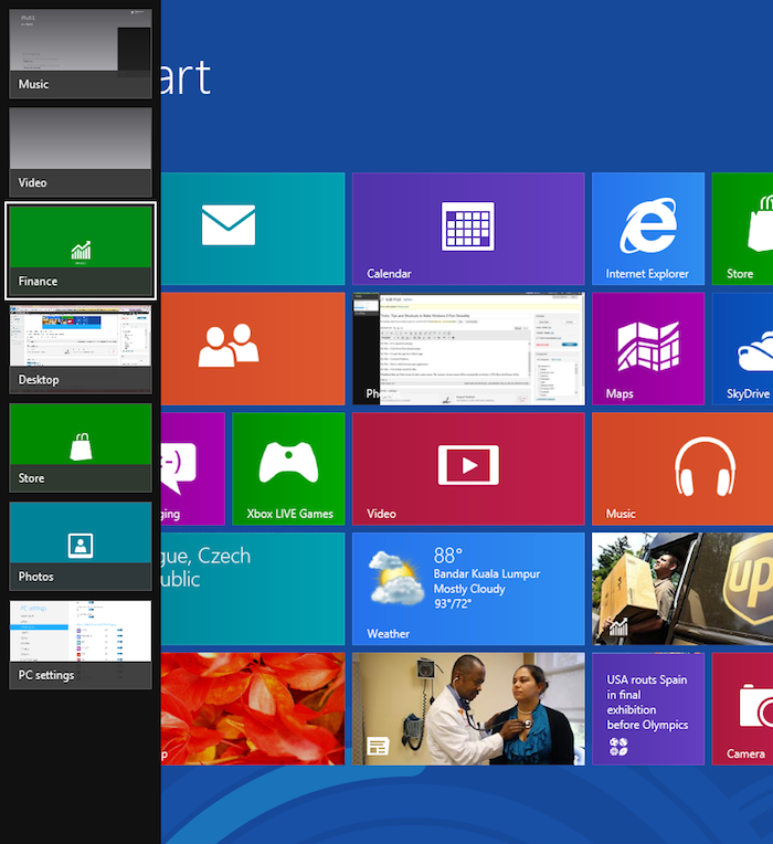 Windows 8 : trucs et astuces pour les nouveaux utilisateurs - Win + Tab