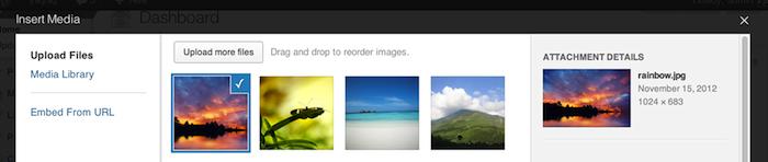WordPress 3.5 Release Candidate dans les bacs - Amélioration de la galerie