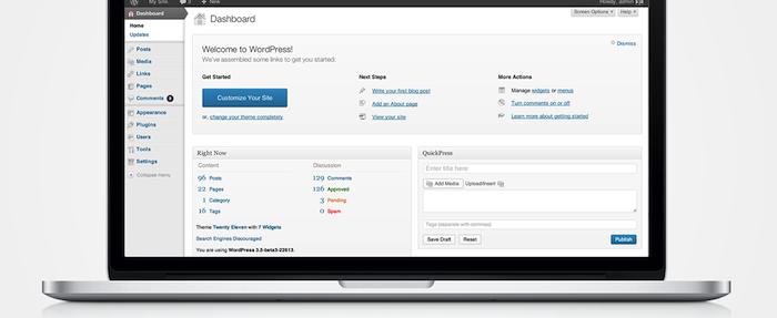 WordPress 3.5 Release Candidate dans les bacs - Interface HiDPI