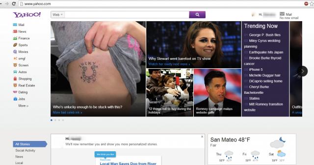 Yahoo Mail pourrait se voir doter d'une toute nouvelle interface utilisateur - Nouvelle page d'accueil pour Yahoo
