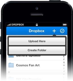 Dropbox 2.0 sur iOS mise tout sur les photos - Gestion du dossier au moment de l'upload