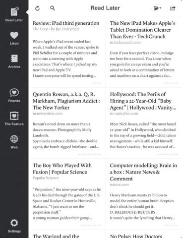 Les meilleures applications de productivité pour votre nouvel iPad - Instapaper