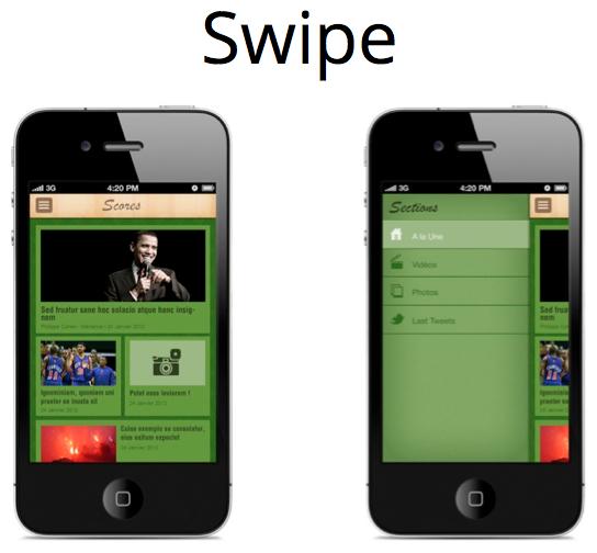 LeWeb'12 : GoodBarber V2 permet de créer toutes vos apps mobiles natives en quelques clics - Choix des thèmes