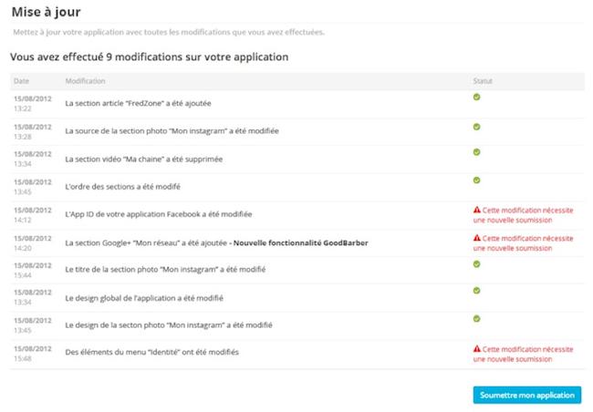 LeWeb'12 : GoodBarber V2 permet de créer toutes vos apps mobiles natives en quelques clics - Plus besoin de demander la validation pour les modifications