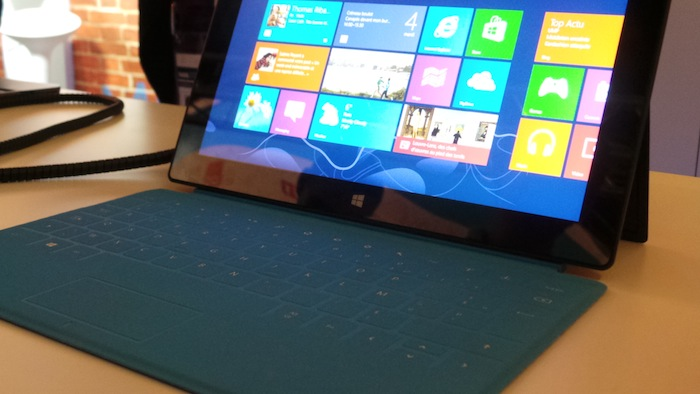 LeWeb'12 : Prise en main de la Surface avec Windows RT - Touch Cover de la Surface