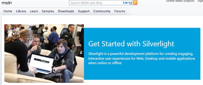 Microsoft ferme Silverlight.net et admet à demi-mot l'abandon de Silverlight