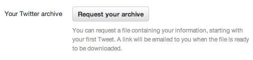Twitter commence à pousser son option pour télécharger tous vos tweets