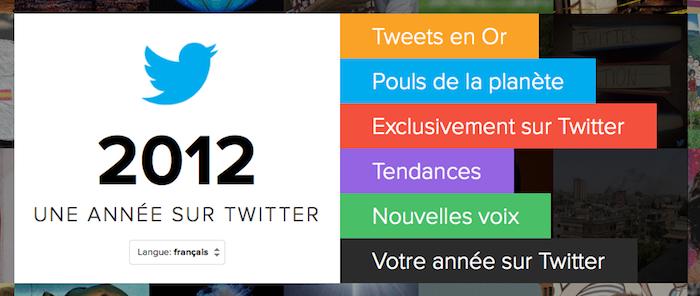 Twitter dévoile l'année 2012 en chiffres