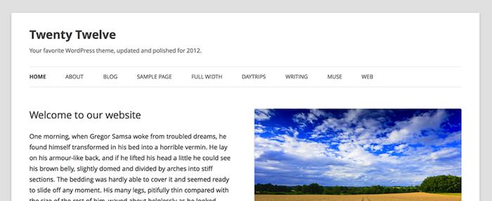 WordPress 3.5 est officiellement dans les bacs - Nouveau thème Twenty Twelve