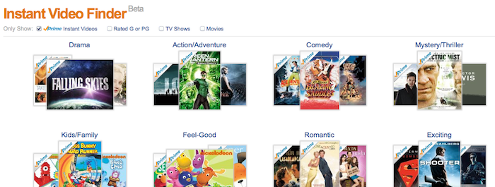 Amazon lance Instant Video Finder en version bêta