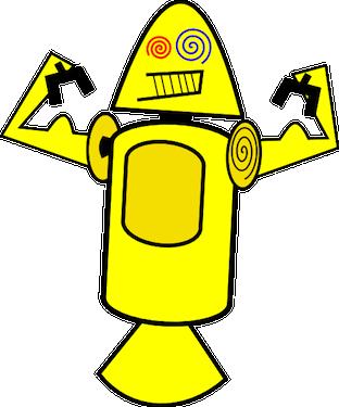 Connaissiez-vous ces créatures terrifiantes qui ont été proposées comme mascottes pour Android ? - Dandroids jaune