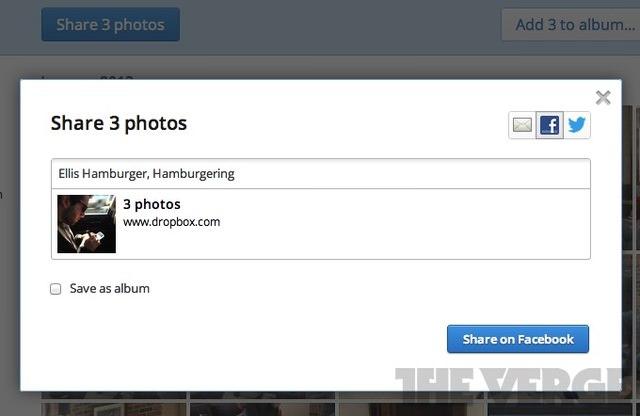Dropbox passe au social, en ajoutant une prévisualisation de fichier et un flux pour le partage de photos