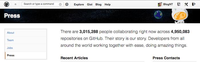 Github passe les 3 millions d'utilisateurs enregistrés, triplant sa base dans les 15 derniers mois