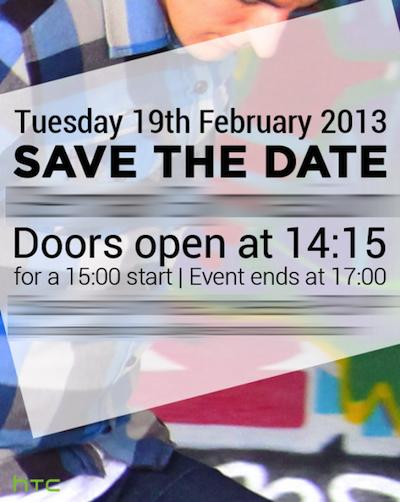 HTC confirme un événement le 19 février à Londres et à New York avec une présentation du HTC M7 ?