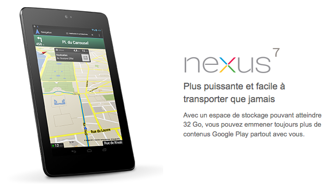 La part de marché de la Nexus 7 surpasse celle de l'iPad au Japon