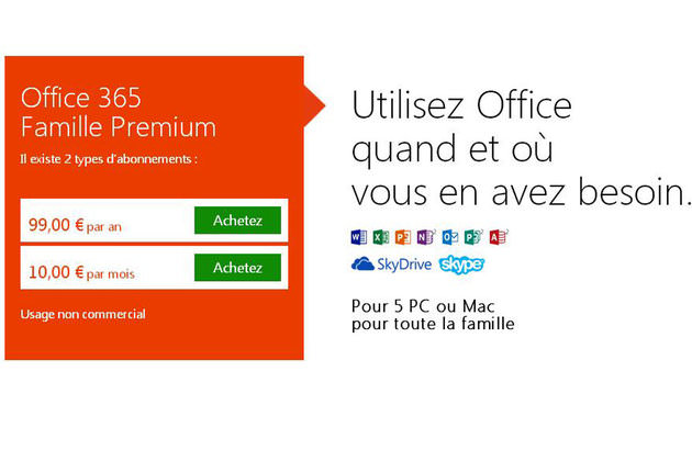 Microsoft office 15 et office 365 sont maintenant disponibles pour windows 8 - Cle activation office 365 famille premium ...