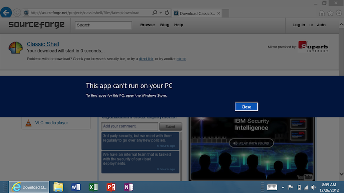 Microsoft Surface RT : une tablette bridée par l'OS - Impossible d'installer une application autre que sur le Windows Store
